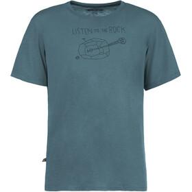 E9 Guitar t-shirt Heren blauw